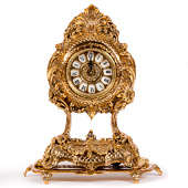 Часы каминные из бронзы