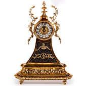 Часы каминные Пирамида с серым мрамором