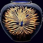 Хрустальная декоративная ваза «Богема»