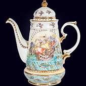 Чайный сервиз «Крым» с авторской надглазурной росписью
