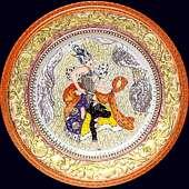 Блюдо настенное «Русские сезоны» с авторской надглазурной росписью