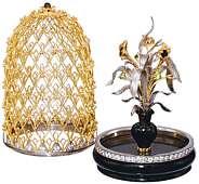 Украшение интерьера «Букет для мастера» из золота и драгоценных камней