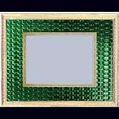 Рамка для фото из латуни и ювелирного стекла
