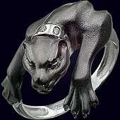 Золотое кольцо «Багира» с 5-тью бриллиантами