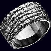 Кольцо «Аллигатор» из серебра 925 пробы
