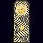 Часы «Генеральский погон» из змеевика