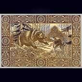 Гравюра «Схватка с медведем»