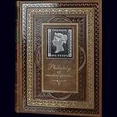 Альбом для марок на 30 листов формата А4 тиснением золотой и серебряной фольгой