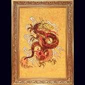 Картина из янтарной крошки. Дракон