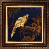 Картина из янтаря. Попугай.