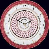 Настенные часы «Блюз» из фарфора с росписью и позолотой