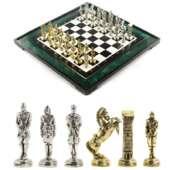 Подарочные шахматы «Великая Отечественная война» доска 50х50 см из змеевика