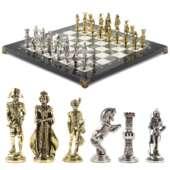 Шахматы настольные «Отечественная война 1812 г.» доска 40х40 см камень офиокальцит