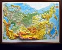 Высокообъёмная карта России в багете