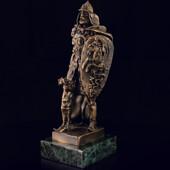 Скульптура «Богатырь» из латуни