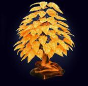 Декоративное дерево из янтаря из 14 веток