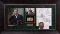 Открытка с собственноручным рисунком и подписью изобретателя радио Александра Попова