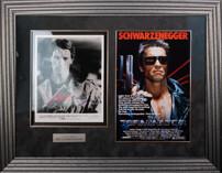 Фото Арнольда Шварцнеггера 1984 года с подлинным автографом