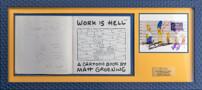 """Собственноручный рисунок создателя """"Симпсонов"""" Мэтта Гроунинга и открытка автографами актёров озвучивания"""