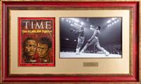 """Журнал """"Time"""" с подлинными автографами Мухамеда Али и Джо Фрейзера"""