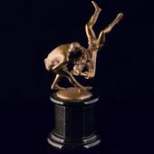 Сувенир «Борцы самбо» из латуни