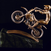 Сувенир «Мотоциклист» из латуни