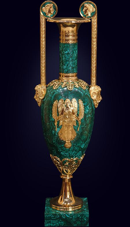 Малахитовая ваза «Анна»