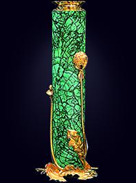 Малахитовая ваза «Одуванчик»