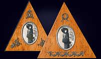 Треугольная рамка деревянная для фотографий