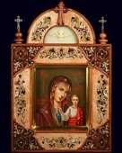 Киот с иконой «Богоматерь Казанская»