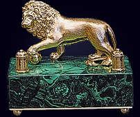 Настольный звонок «Лев»