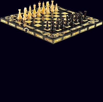 Шахматы из мореного дуба «Арабески»