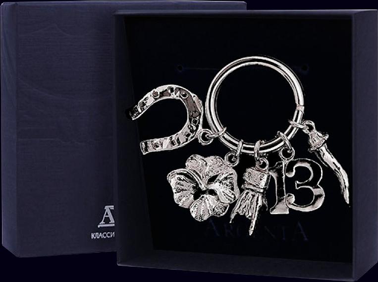 Брелок «Символы удачи» из серебра 925 пробы