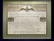 Билет Госкомиссии погашения долгов 6% займа. Капитал в 500 рублей, 1854 год