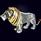 Ювелирная композиция «Лев» из серебра с чёрными бриллиантами и жемчугом
