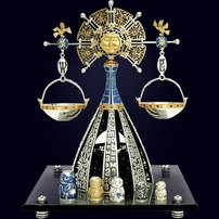 Ювелирная композиция «Весы» из серебра